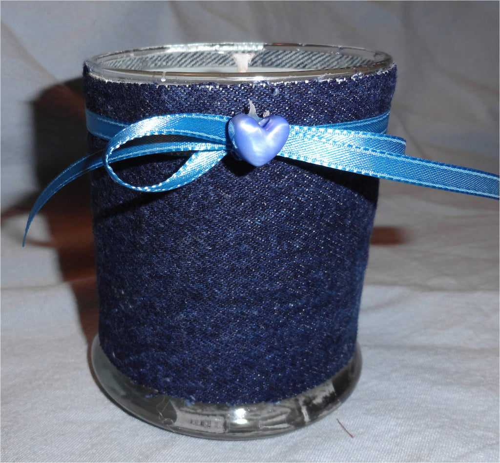 Denim Wrapped  Scented Candle