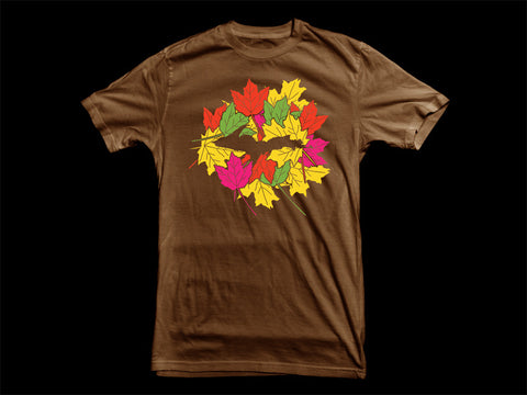 """U.P. FALL""<br />Chocolate Brown T-Shirt"
