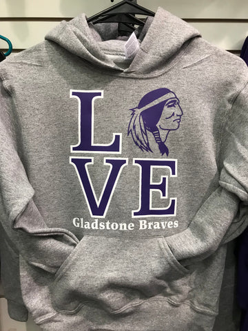LOVE Gladstone Braves Sweatshirt