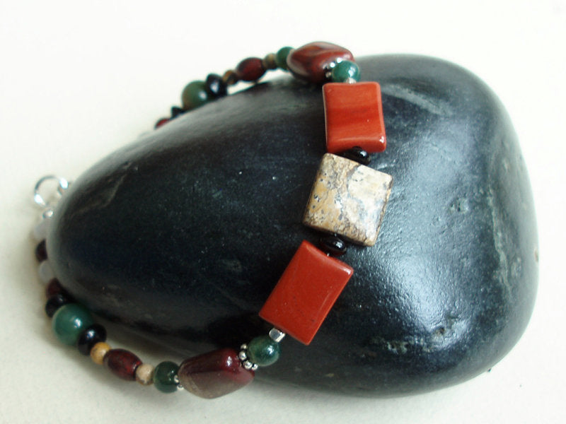 Picture Jasper and Red Jasper Bracelet