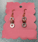 Kona Dolomite, Upcycled Bike Chain Earrings