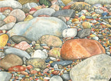 Notecards: Multicolored Lake Superior Stones