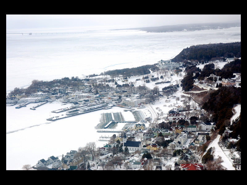 Frozen Mackinac Island