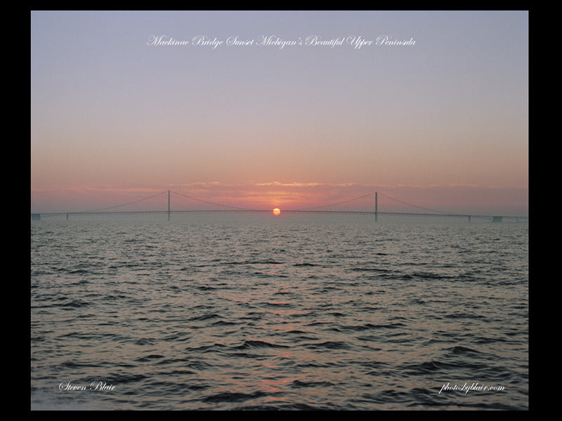 The Sunset at Mackinac Bridge