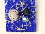 Cobalt Blue Square Glass -01 by Beth LaPonsie