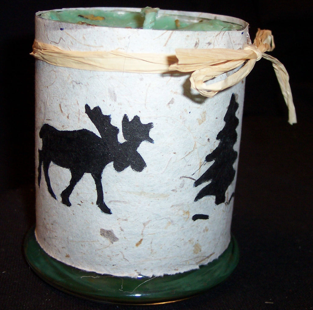 Moose Print on Mulberry Paper Soy Candle