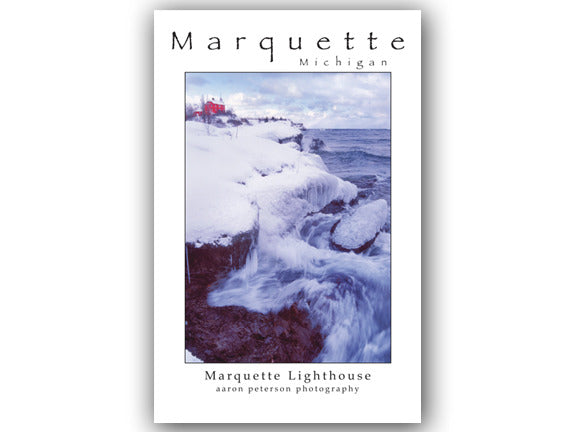 Marquette Lighthouse Poster by Aaron Peterson