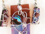 Purple Iridized Glass -07 by Beth LaPonsie
