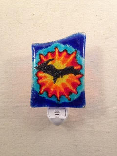Hand-painted Fused Glass Nightlight