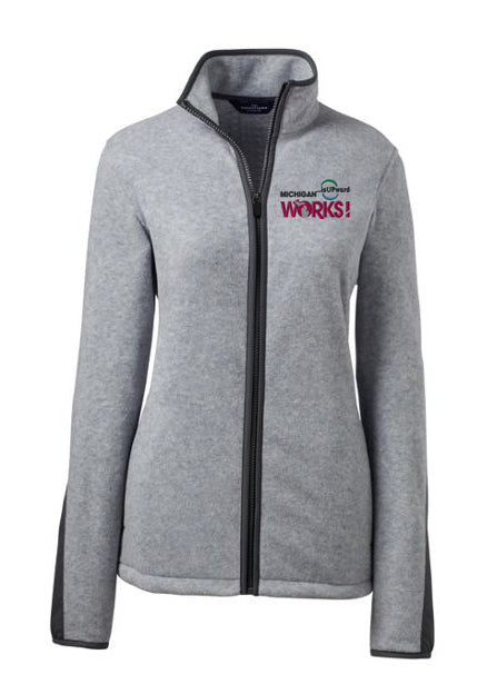 Women's ThermaCheck Jacket Michigan Works! Logo
