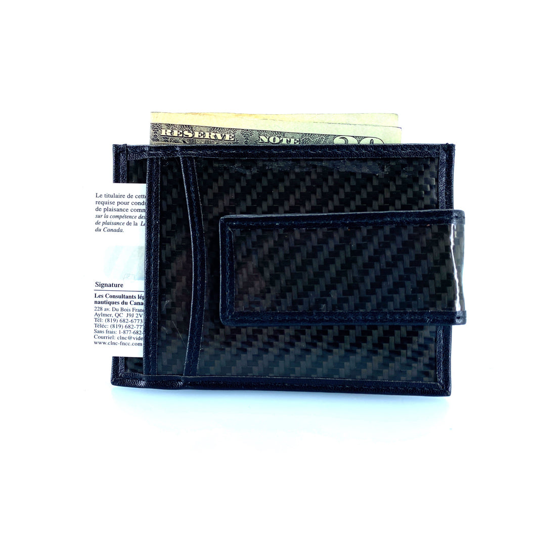 Black Wallet with clip