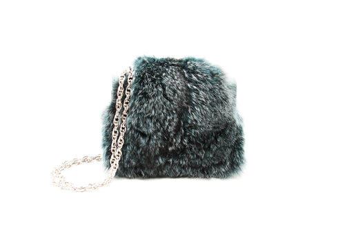 Emerald Fur Medium Shoulder Bag
