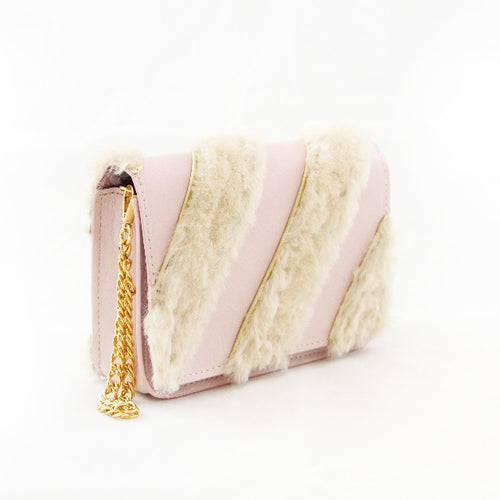 Blush Fur & Leather Apollo
