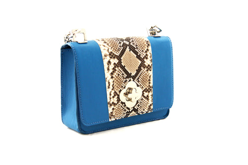 Electric Blue Medium Shoulder Bag