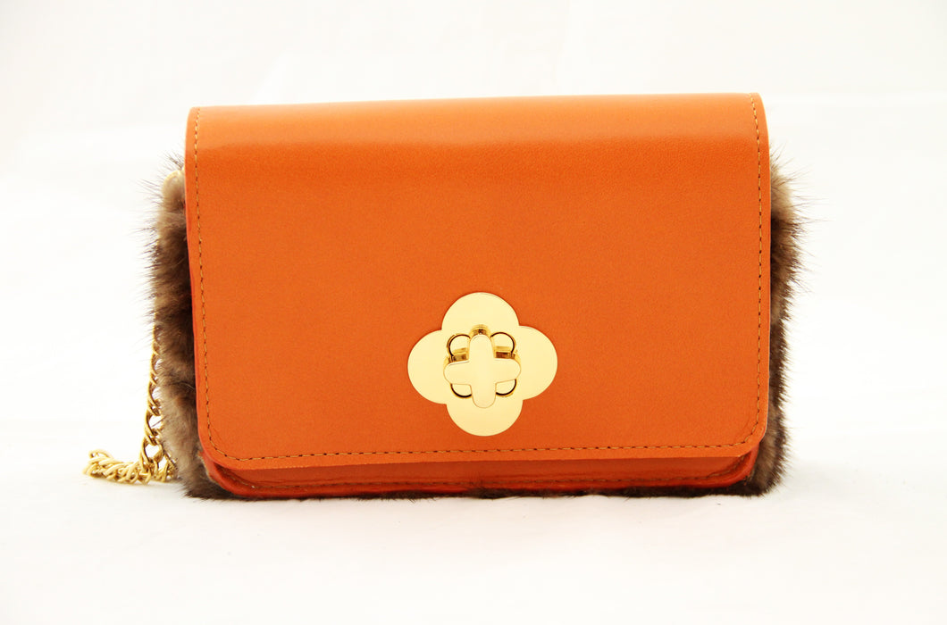 Orange Leather & Fur Apollo