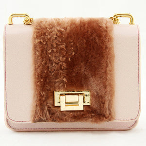 Blush Fur Crossbody