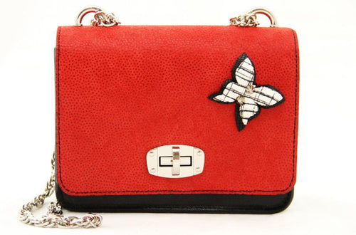Red Butterfly Medium Shoulder Bag