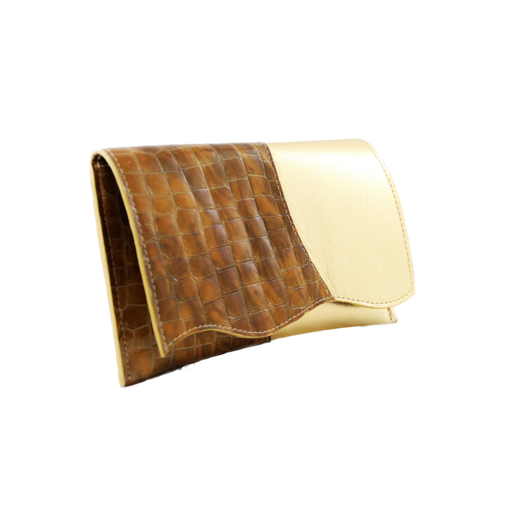 Gold & Golden Brown Clutch