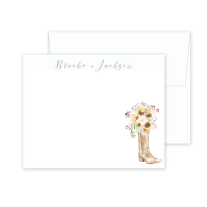 Cowboy Boot Stationery