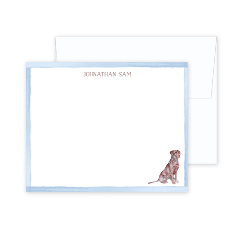 Chocolate Lab Stationery