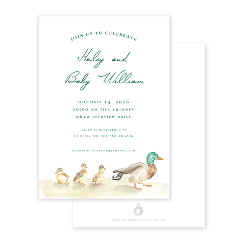 Mallard Duck Baby Shower