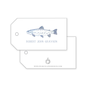 Trout Fish Gift Tags