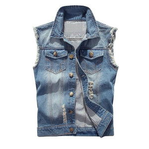 Cotton + Jeans (Sleeveless) Jacket Vest