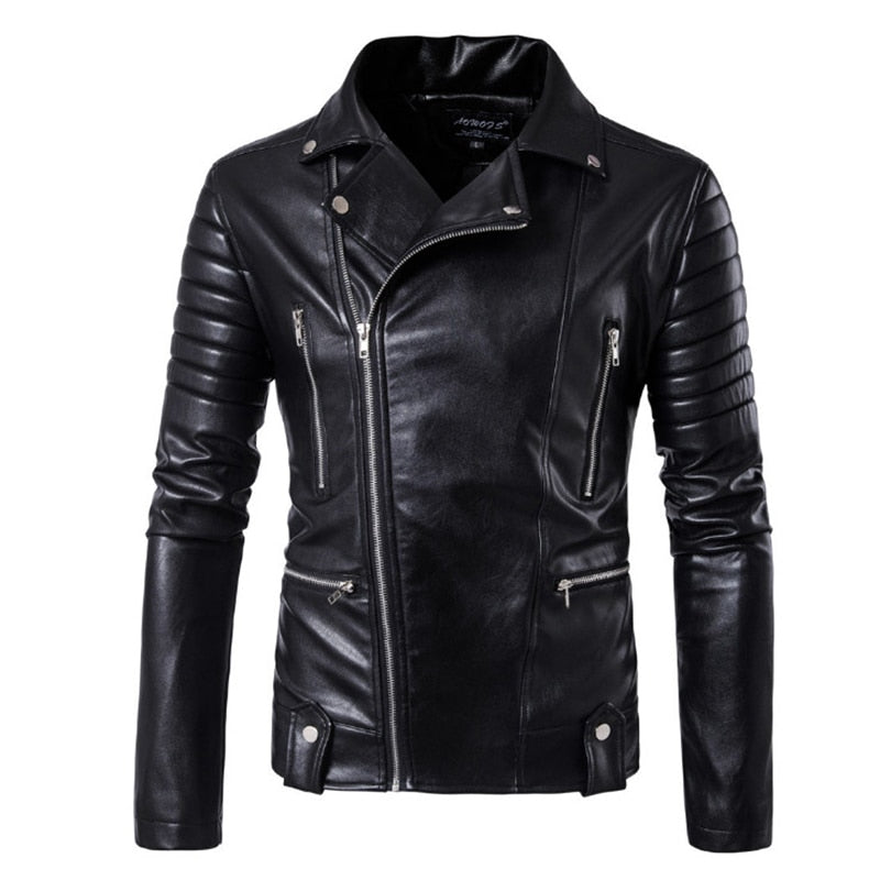 Biker Punk Style Leather Jacket