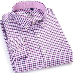 Plaid/Striped Oxford Dress Shirt