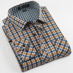Dark colours mens classic plaid shirt