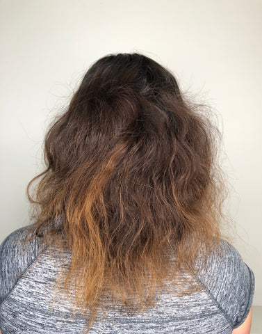 frizzy hair with split ends