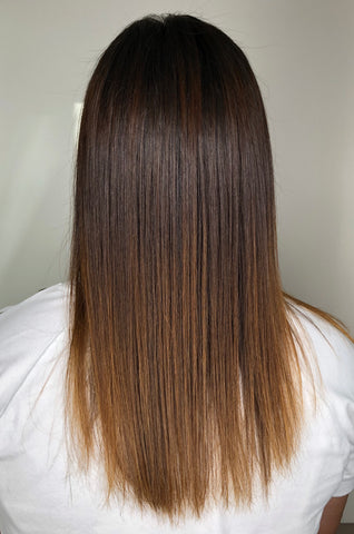 sleek shiny healthy hair
