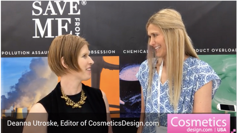 image of deanna utroske and april peck at save me from booth at cosmoprof north america 2019