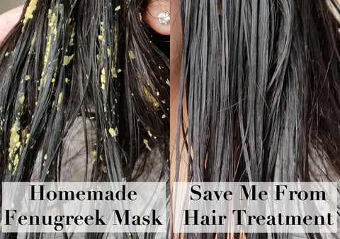 DIY fenugreek hair mask vs Save Me From Hair Repair