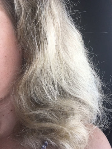 frizzy damaged bleached hair