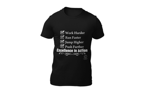 """Excellence in Action"" Short-Sleeve Unisex T-Shirt"