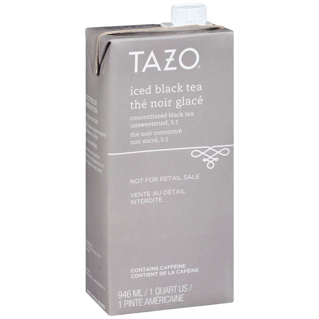 Tazo Iced Tea Concentrate Black 5:1 32 oz Pack of 6