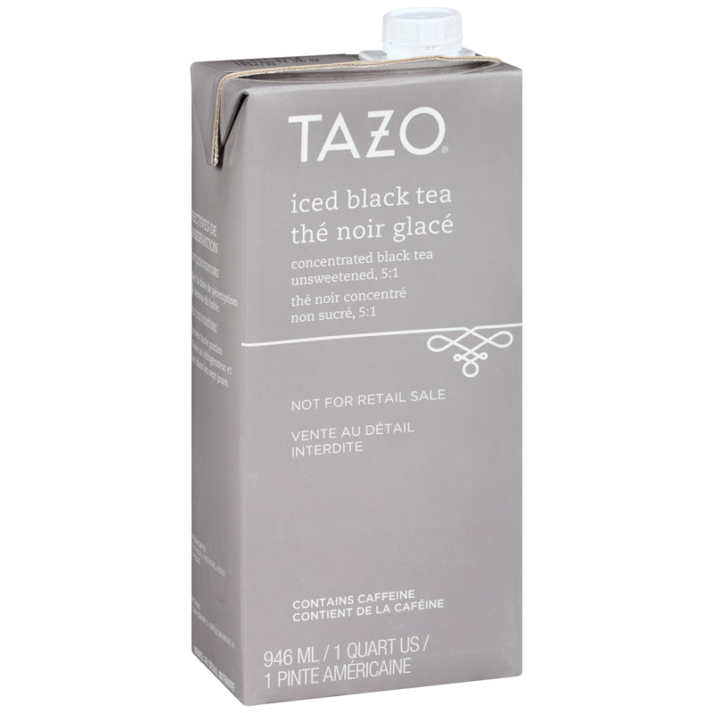 TEMPORARILY OUT OF STOCK: Tazo Iced Tea Concentrate Black 5:1 32 oz Pack of 6