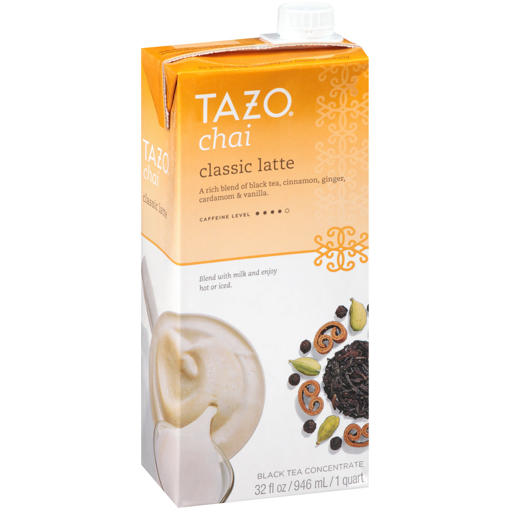 Tazo Tea Concentrate Chai 1:1 32 oz Pack of 6