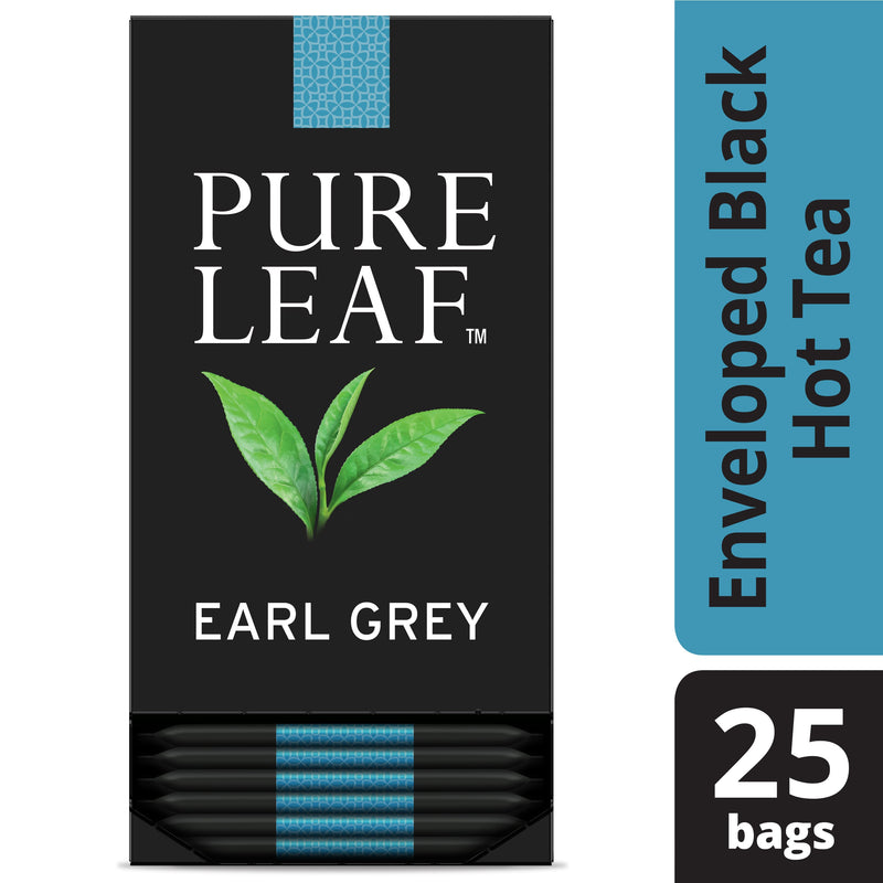 Pure Leaf Hot Tea Bags Earl Grey 25 count, Pack of 6