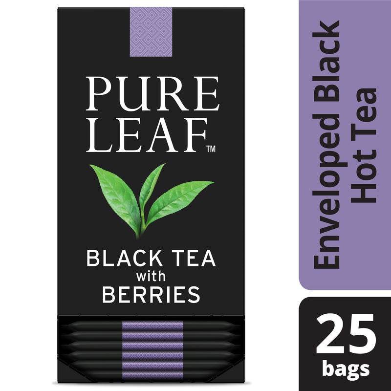 Pure Leaf Hot Tea Bags Black with Berries 25 Count