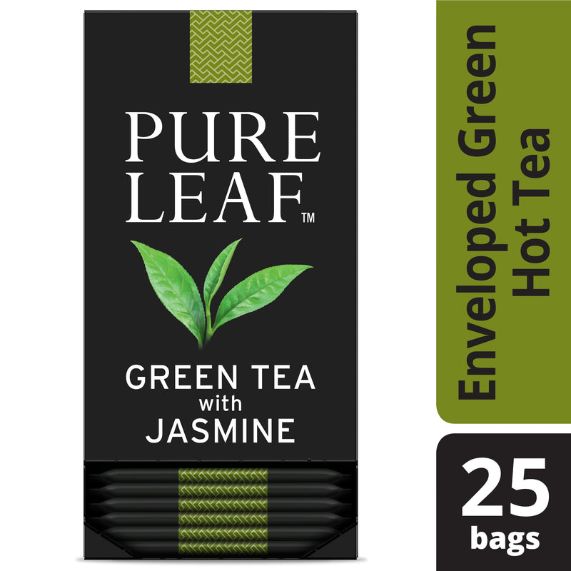 Pure Leaf Hot Tea Bags Green with Jasmine 25 count