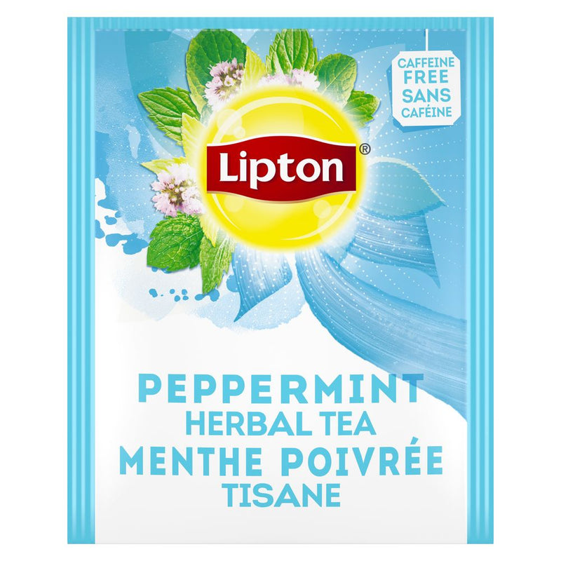 Lipton Hot Tea Bags Peppermint Herbal Tea 28 Count, Pack of 6