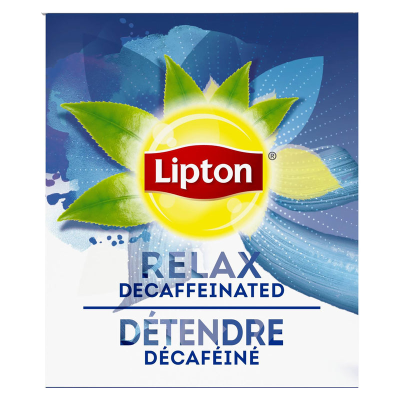 Lipton Hot Tea Bags Decaffeinated Black 28 Count, Pack of 6