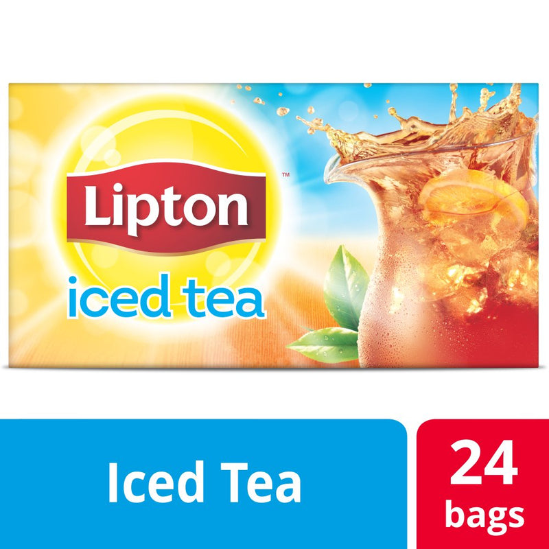 Lipton Iced Tea Unsweetened Black, 1 gal Yield, 24 count, Pack of 4