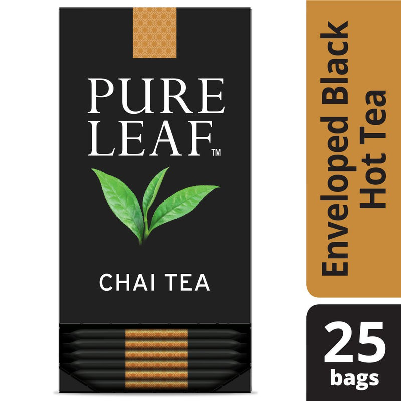 Pure Leaf Hot Tea Bags Chai 25 Count, Pack of 6