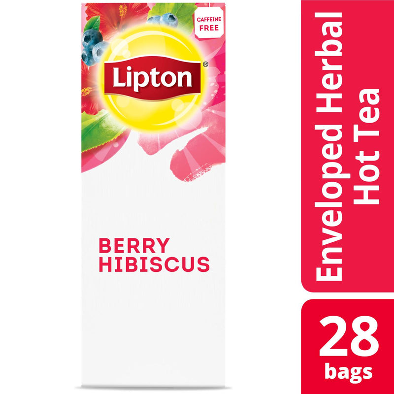 Lipton Hot Tea Bags Berry Hibiscus 28 Count, Pack of 6