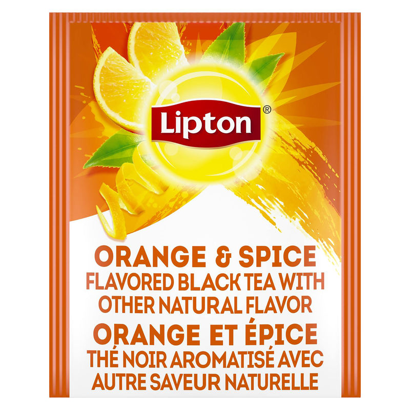 Lipton Hot Tea Bags Black Orange and Spice 28 Count, Pack of 6