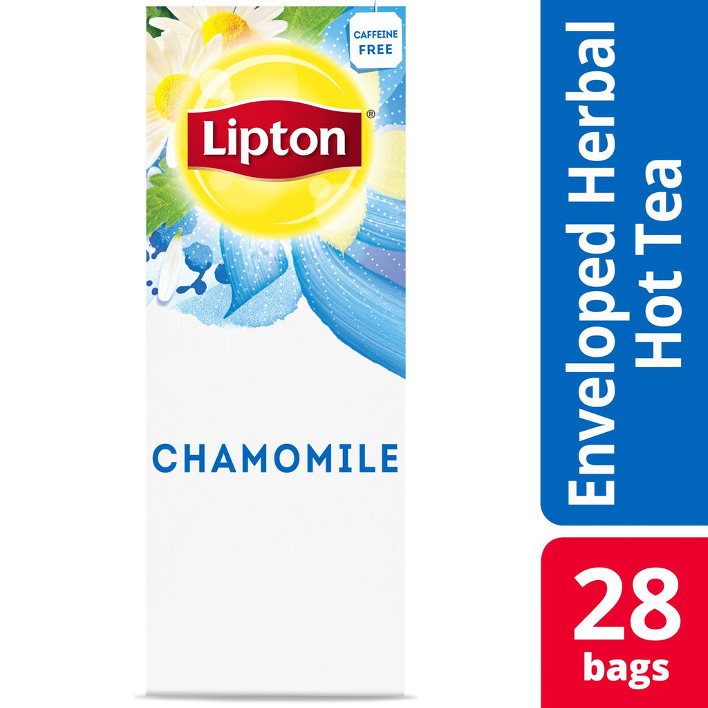 Lipton Chamomile Herbal Tea 28 Count, Pack of 6