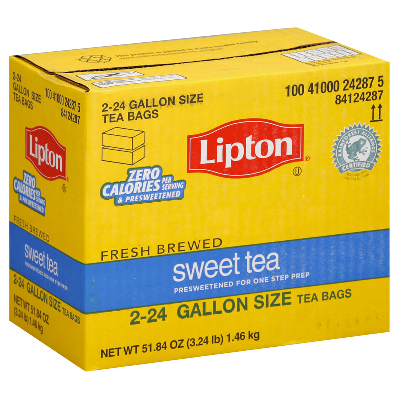 Lipton Iced Tea Sweet Tea 1 gal Yield, 24 count, Pack of 2